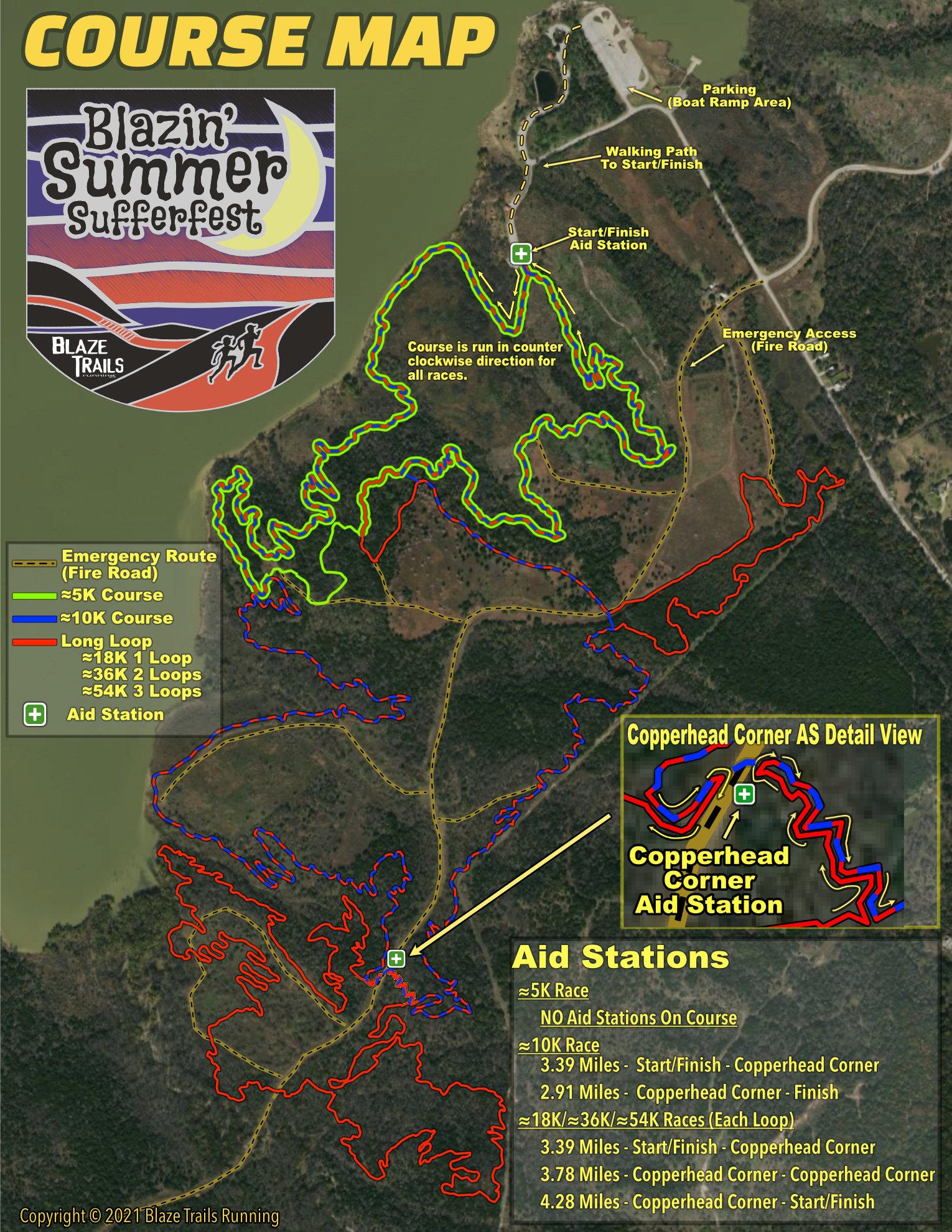 Blazin Summer Sufferfest-Cedar Hill Course Map